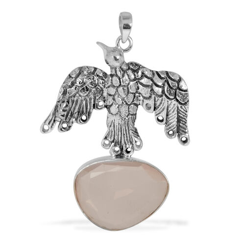 Creature Couture - Eagle Pendant with Pink Quartz in Sterling Silver 7.550 Ct.