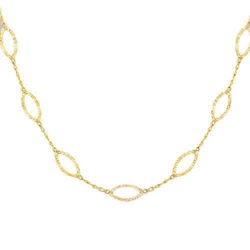 Vicenza Collection - 9K Y Gold Diamond Cut Elliptic Link Necklace (Size 20), Gold Weight 5.66 Gms.