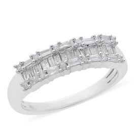 Designer Inspired- 9K White Gold SGL Certified Diamond (Bgt) (I3/G-H) Ring 0.500 Ct.