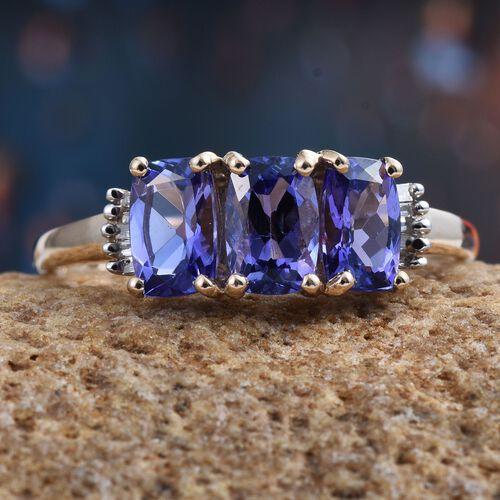 9K Y Gold Tanzanite (Cush), Diamond Ring 1.750 Ct.