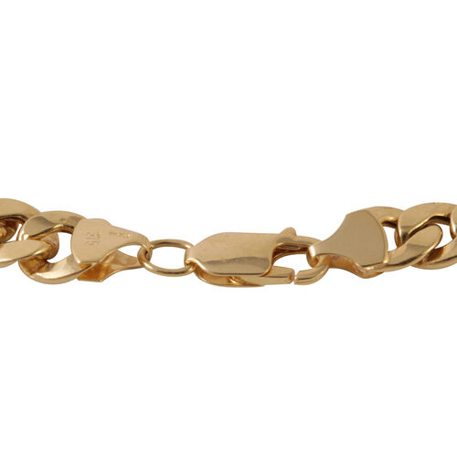 JCK Vegas Collection 9K Y Gold Curb Bracelet (Size 8.25), Gold wt 9.16 Gms.