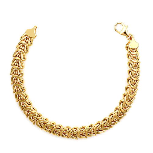 Vicenza Collection 9K Yellow Gold Fancy Bracelet (Size 7.5), Gold wt 10.02 Gms.