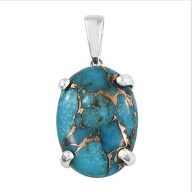 Mojave Blue Turquoise (Ovl) Pendant in Sterling Silver 17.750 Ct.