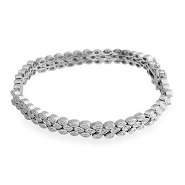New York Collection Close Out Deal - Diamond (Rnd) Carpet Bracelet (Size 7.5) in Silver Plated