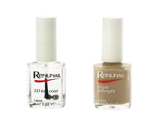 (Option 5) Dr Lewins- Renunail Cashmere 14ml with 3D Top Coat 14ml
