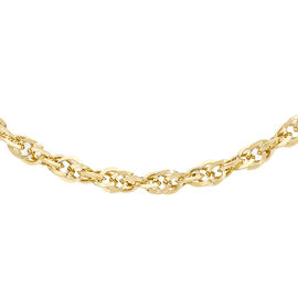 Italian 9K Y Gold Diamond Cut Prince of Wales Necklace (Size 20), Gold Wt. 4.20 Gms.