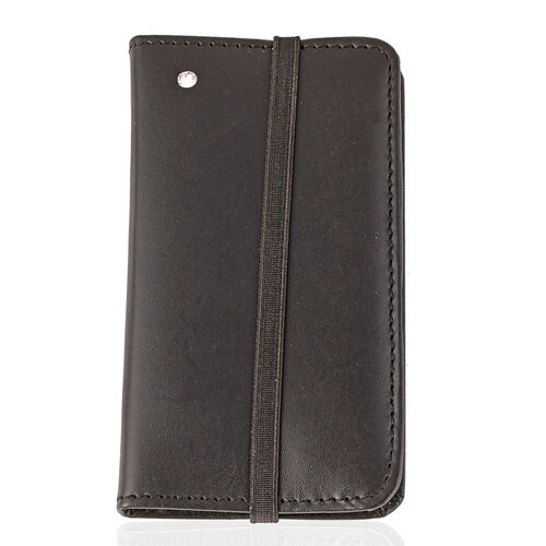 Genuine Leather Tan Colour Mobile Cover with Card Slots and Flap