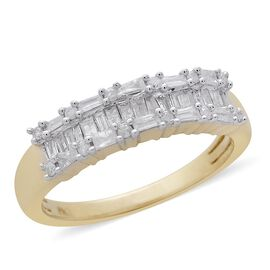 9K Y Gold SGL Certified Diamond (Bgt) (I3/G-H) Ring 0.500 Ct.