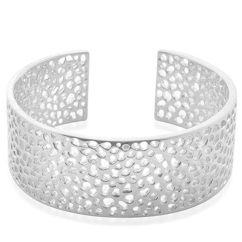 RACHEL GALLEY Sterling Silver Enkai Sun Cuff Bangle (Size 8), Silver wt 63.08 Gms.