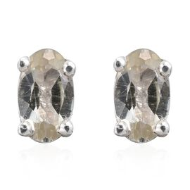 Natural Turkizite (Ovl) Earrings (with Push Back) in Platinum Overlay Sterling Silver