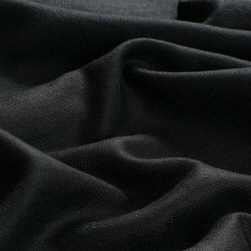 100% Cashmere Wool Black Colour Shawl (Size 200x70 Cm)