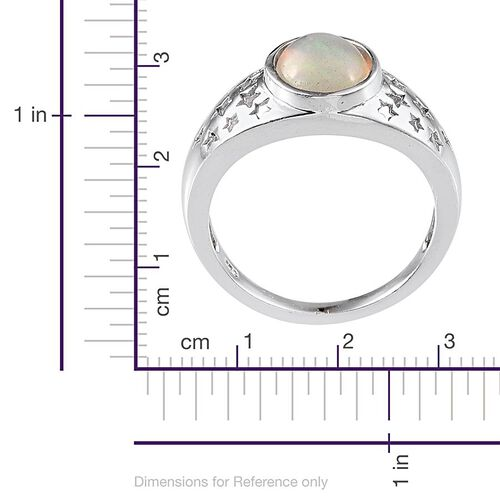 Ethiopian Welo Opal (Ovl) Solitaire Ring in Platinum Overlay Sterling Silver 1.250 Ct.