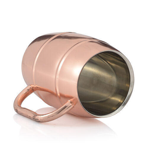 (Option 2) Home Decor - Barrel Shape Mug in Rose Gold Tone
