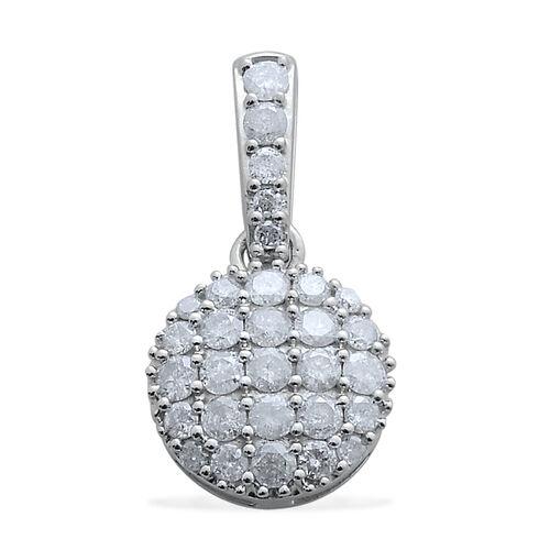 9K W Gold SGL Certified Diamond (Rnd) (I3/ G-H) Pendant 1.000 Ct.