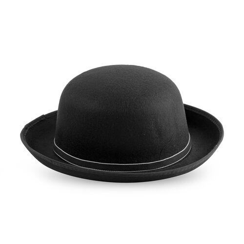 Designer Inspired-Black Colour Flower Adorned Hat (Size 16 Cm)