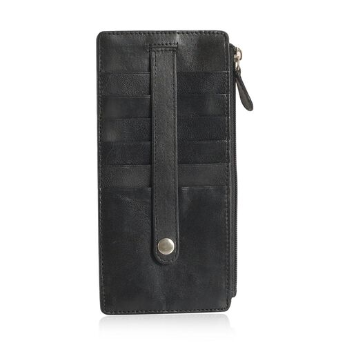 Genuine Leather RFID Blocker Black Colour Ladies Wallet
