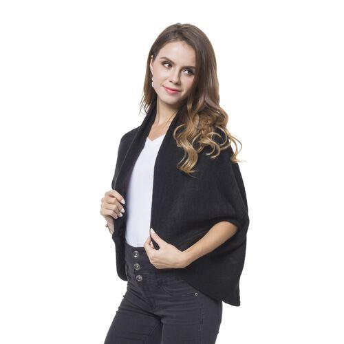 Designer Inspired -Black Colour Kimono (Size 105X35 Cm)