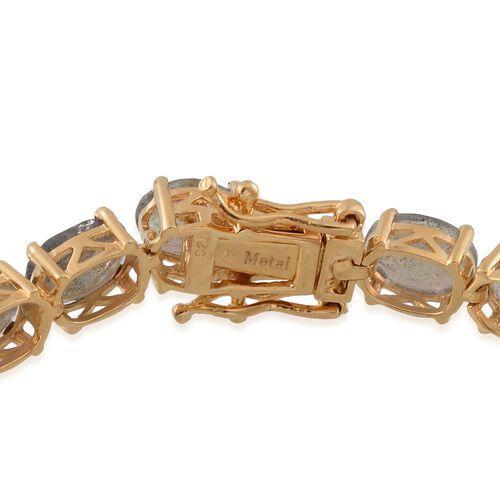 Labradorite (Ovl) Tennis Bracelet (Size 8) in 14K Gold Overlay Sterling Silver 28.000 Ct.