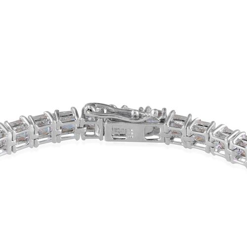 Mercury Mystic Topaz (Sqr) Bracelet in Platinum Overlay Sterling Silver (Size 8) 17.000 Ct.