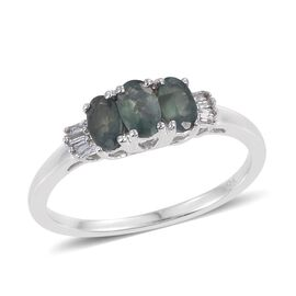 9K W Gold Narsipatnam Alexandrite (Ovl), Diamond Ring 0.850 Ct.