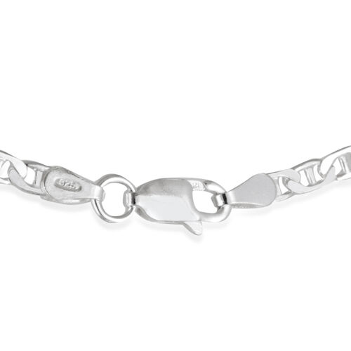 Close Out Deal Sterling Silver Marina Necklace (Size 26), Silver wt 10.60 Gms.