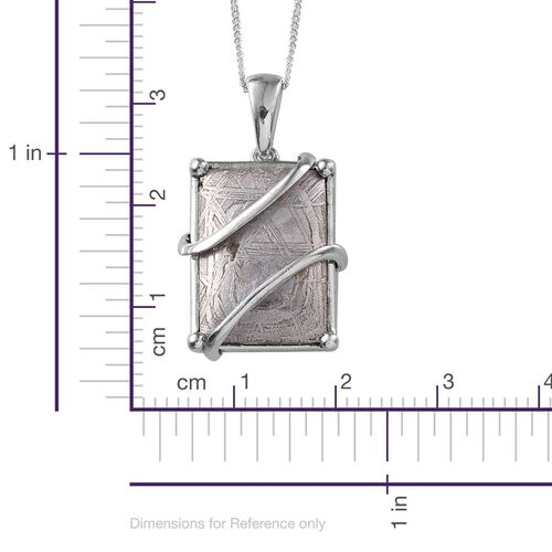Meteorite (Bgt) Pendant With Chain in Platinum Overlay Sterling Silver 19.500 Ct.