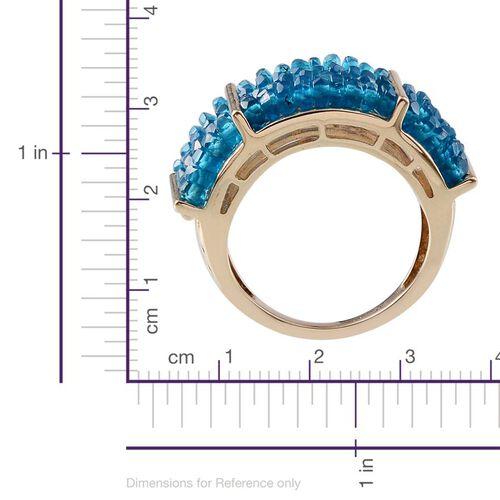 9K Y Gold AAA Malgache Neon Apatite (Rnd) Ring 10.000 Ct.