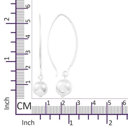 Thai Sterling Silver Dangling Ball Hook Earrings, Silver wt. 4.10 Gms.