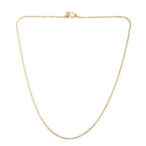 Close Out Deal 14K Gold Overlay Sterling Silver Adjustable Chain (Size 24), Silver wt 4.00 Gms.