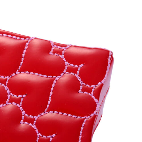 Red Heart Shape 2 Layer Jewellery Box (Size 13x13x8 Cm)