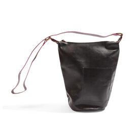 Anya 100% Genuine Leather Black Crossbody Bag with Shoulder Strap (Size 28X25.5X16.5 Cm)