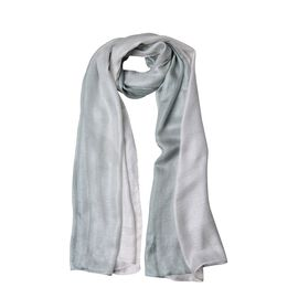 White and Green Colour Scarf (Size 180x87 Cm)