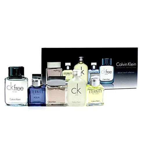Calvin Klein- Set of 5 Mens Minatures 10ml Euphoria Men EDT, 10ml CK1 EDT, 10ml Eternity Men EDT, 10ml CK2 EDT and 10ml CK Free EDT