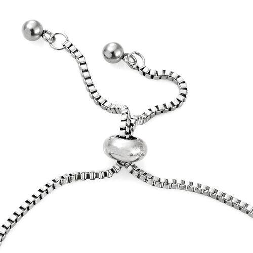 Designer Inspired-Mozambique Garnet (Ovl), Sky Blue Topaz, Hebei Peridot, Amethyst and Citrine Adjustable Bracelet (Size 6.5 to 8.5) 4.250 Ct.