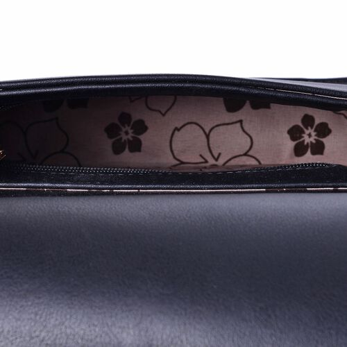 Alexa V Pattern Crossbody Bag with Chain Strap (Size 24x19x5.5 Cm)