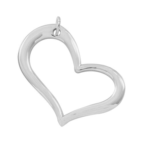 Designer Inspired- Vicenza Collection Sterling Silver Heart Pendant, Silver wt 4.76 Gms.