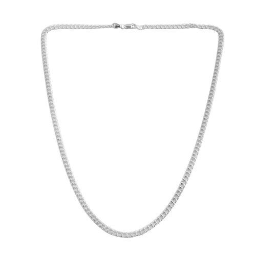 JCK Vegas Collection Sterling Silver Curb Chain (Size 20), Silver wt 10.50 Gms.