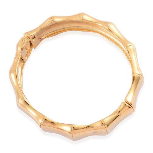 Designer Inspired Bamboo Bangle (Size 7.5) in Gold Tone