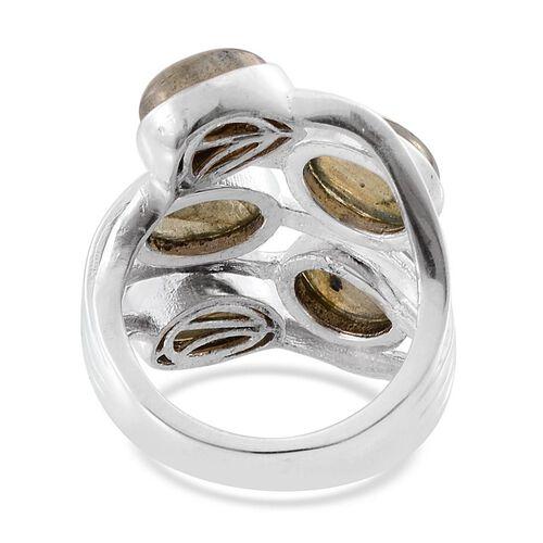 Labradorite (Ovl) Ring in Platinum Overlay Sterling Silver 10.500 Ct.