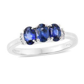 RHAPSODY 950 Platinum AAAA Ceylon Blue Sapphire (Ovl), Diamond (VS/E-F) Ring 1.550 Ct.