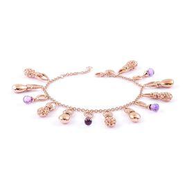 Limited Edition-RACHEL GALLEY Rose De France Amethyst Bracelet (Size 8) in Rose Gold Overlay Sterling Silver