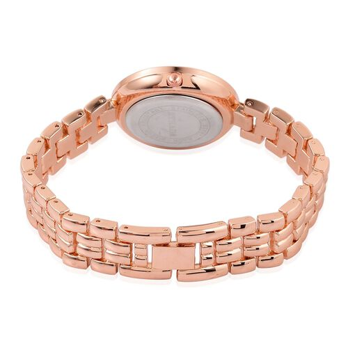 STRADA Japanese Movement Mother Of Pearl Watch in Rose Gold Tone