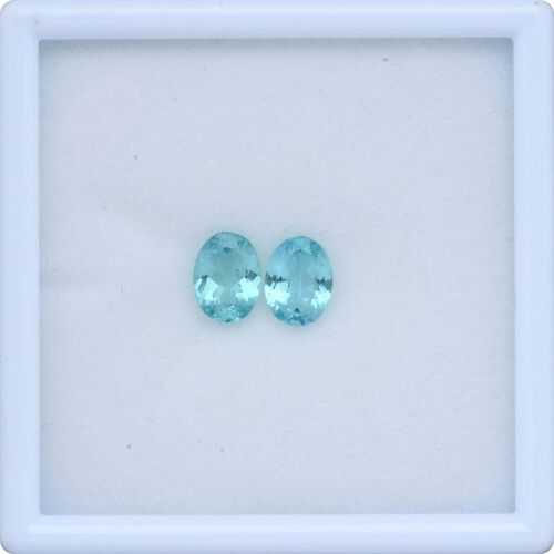 Paraiba Apatite (Ovl 8x6 mm Faceted 2A) 2.180 Ct.