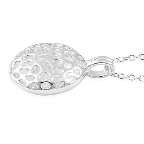 RACHEL GALLEY Sterling Silver Memento Disc Pendant With Chain (Size 20), Silver wt 5.44 Gms.