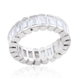 Simulated Diamond Full Eternity Ring in Silver Bond