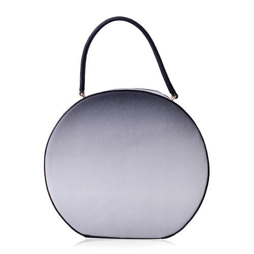 Sisley Vintage Circle Bag with Tie Dye Effect Faux Leather (Size 31x28x9 Cm)