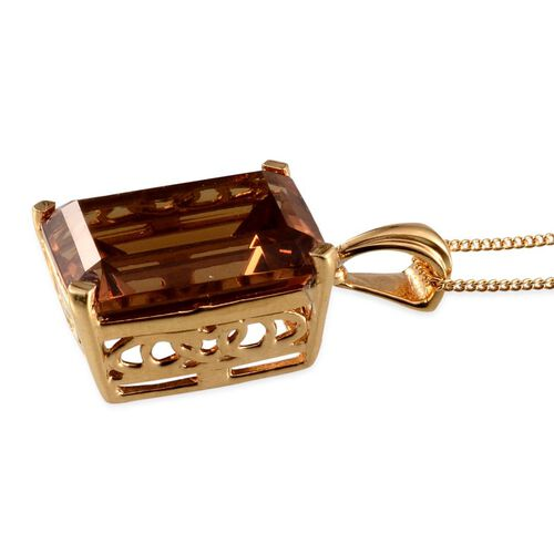 Alexite (Oct) Solitaire Pendant With Chain in 14K Gold Overlay Sterling Silver 11.500 Ct.