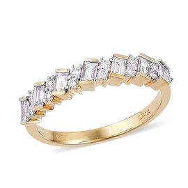 ILIANA 18K Yellow Gold IGI Certified 0.75 Ct Diamond SI G-H Full Eternity Band Ring