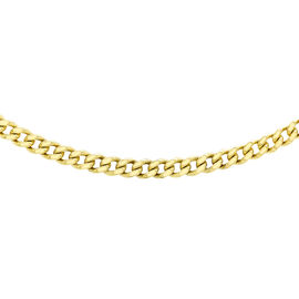 JCK Vegas Collection 9K Yellow Gold Gourmette Necklace (Size 24), Gold wt. 11.30 Gms.
