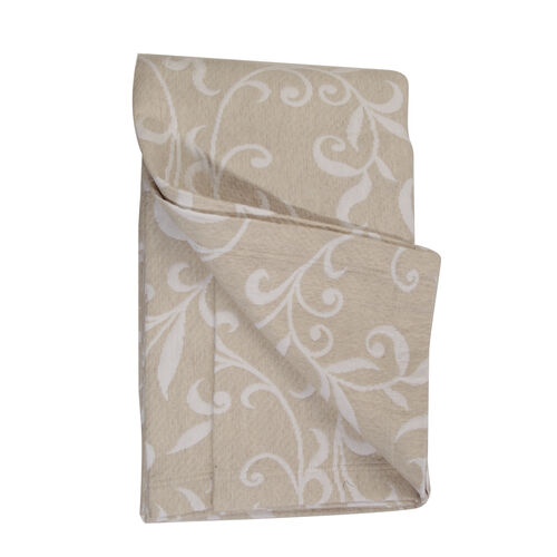 Woven in Portugal Doubleface Pique Bedspread Beige 240x260 cm in Egyptian Cotton